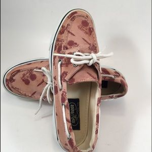 Sperry Top Sider Burnt Rose Print Canvas